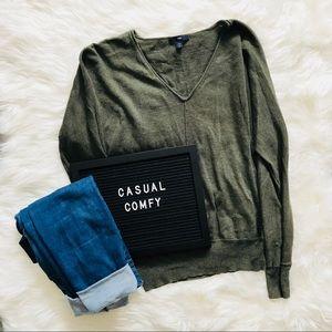 Olive Green Wool Gap Sweater